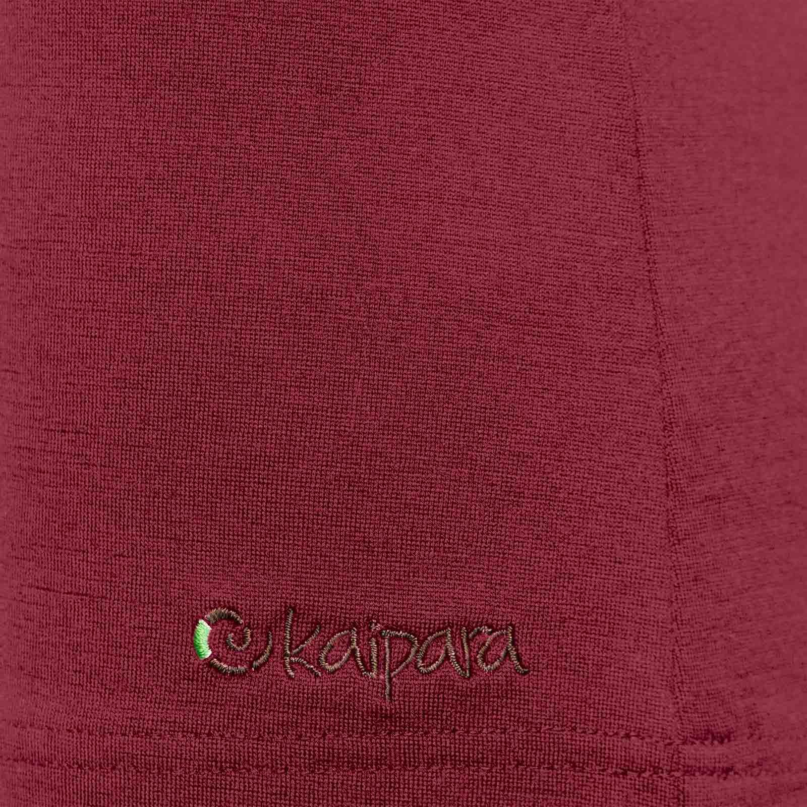 Merino Shirt Damen Kurzarm Slimfit V-Neck 200