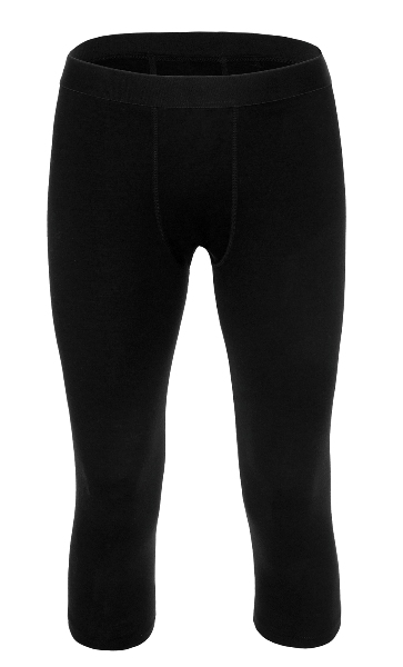 Merino 3/4 Lange Unterhose Herren 200 Schwarz / XL
