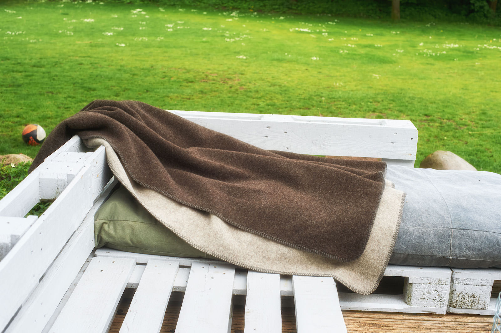 Die Handliche – Merino-Decke 100 cm x 150 cm (800 g)