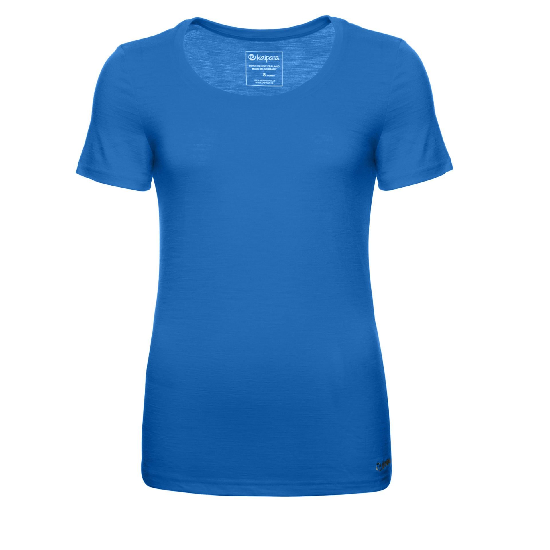Merino Shirt Damen Kurzarm Slimfit 200 Royal / XL