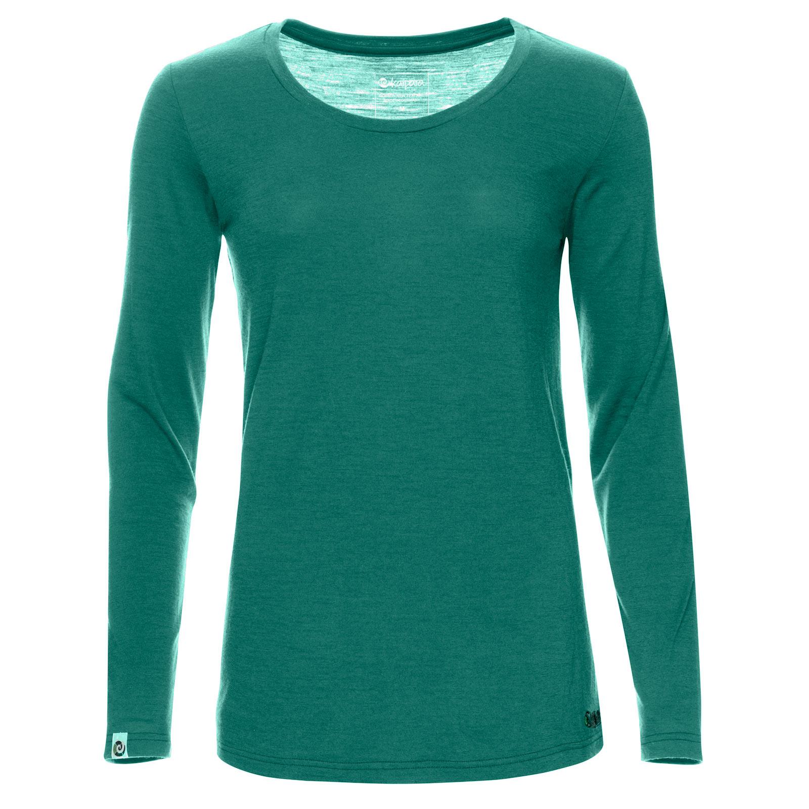 Merino Longsleeve Damen Regular 150 Smaragd XL