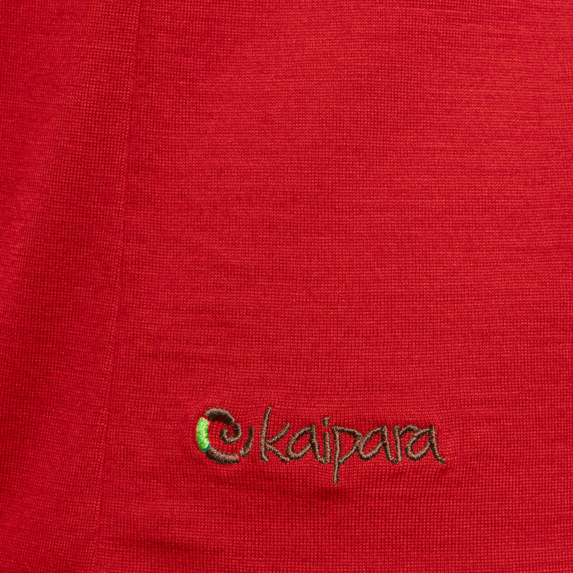 Merino Shirt Herren Kurzarm Regularfit V-Neck 200 Cherry Red / L