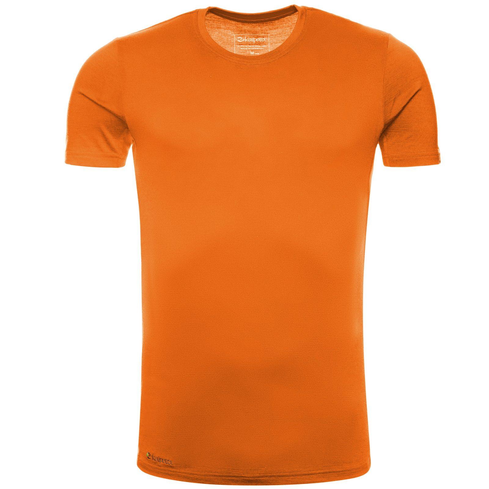 Merino Shirt Herren Kurzarm Slimfit 150 Mango XXL