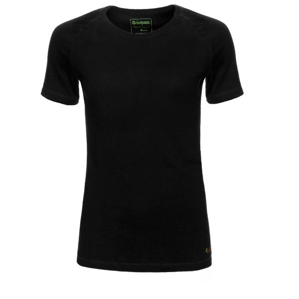 Merino Shirt Damen Kurzarm Slimfit Raglan 150 Schwarz / S