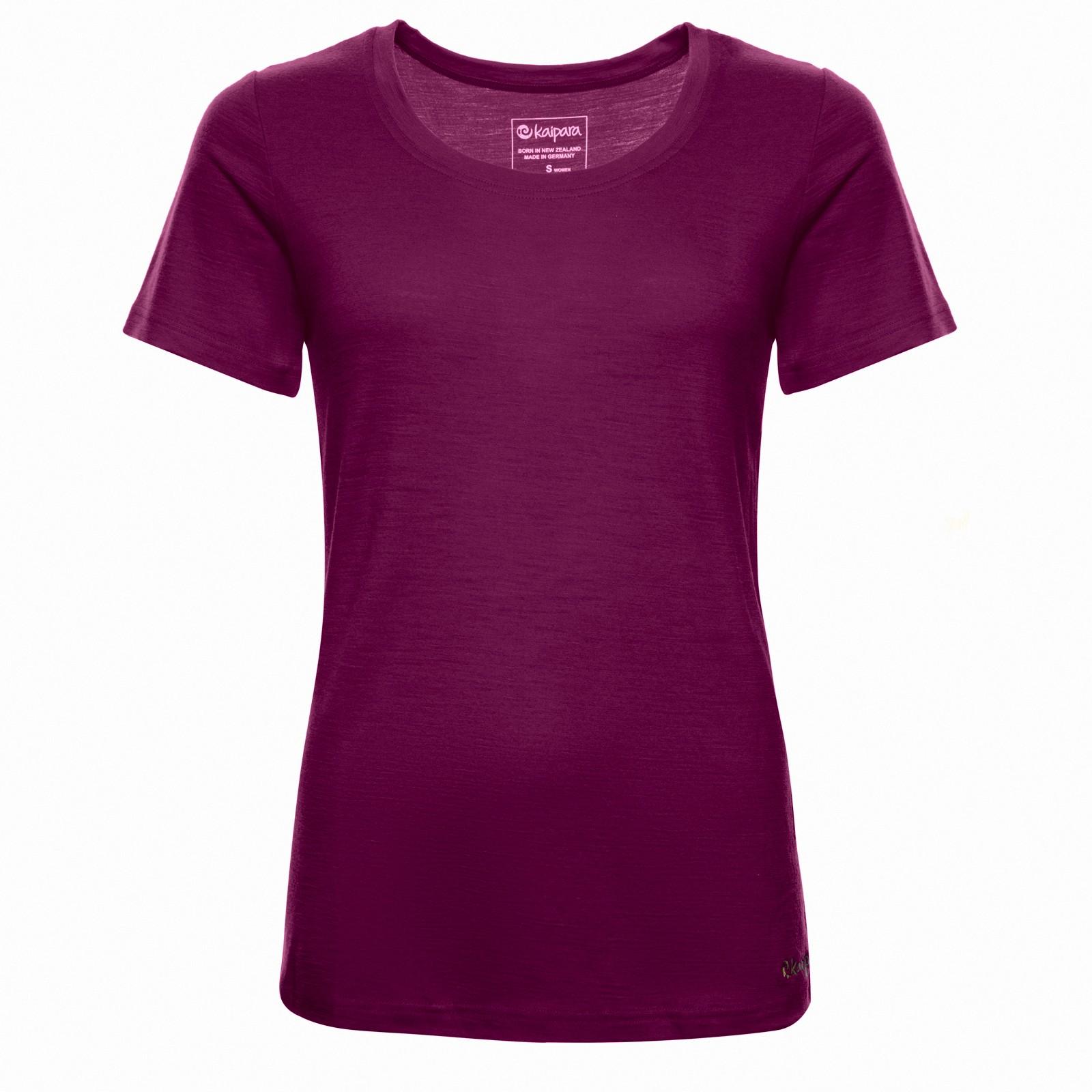 Merino Shirt Damen Kurzarm Regularfit 150 Mulberry M