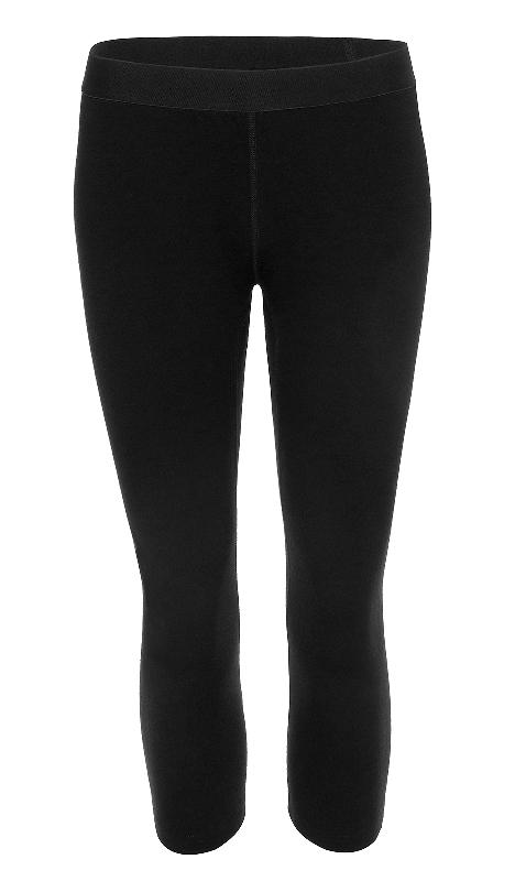 Merino 3/4 Leggings Damen 200 Schwarz / XS