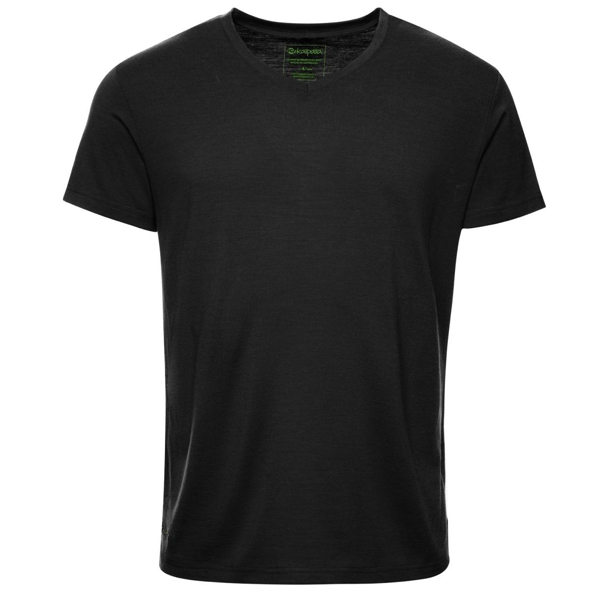 Merino Shirt Herren Kurzarm Regularfit V-Neck 200
