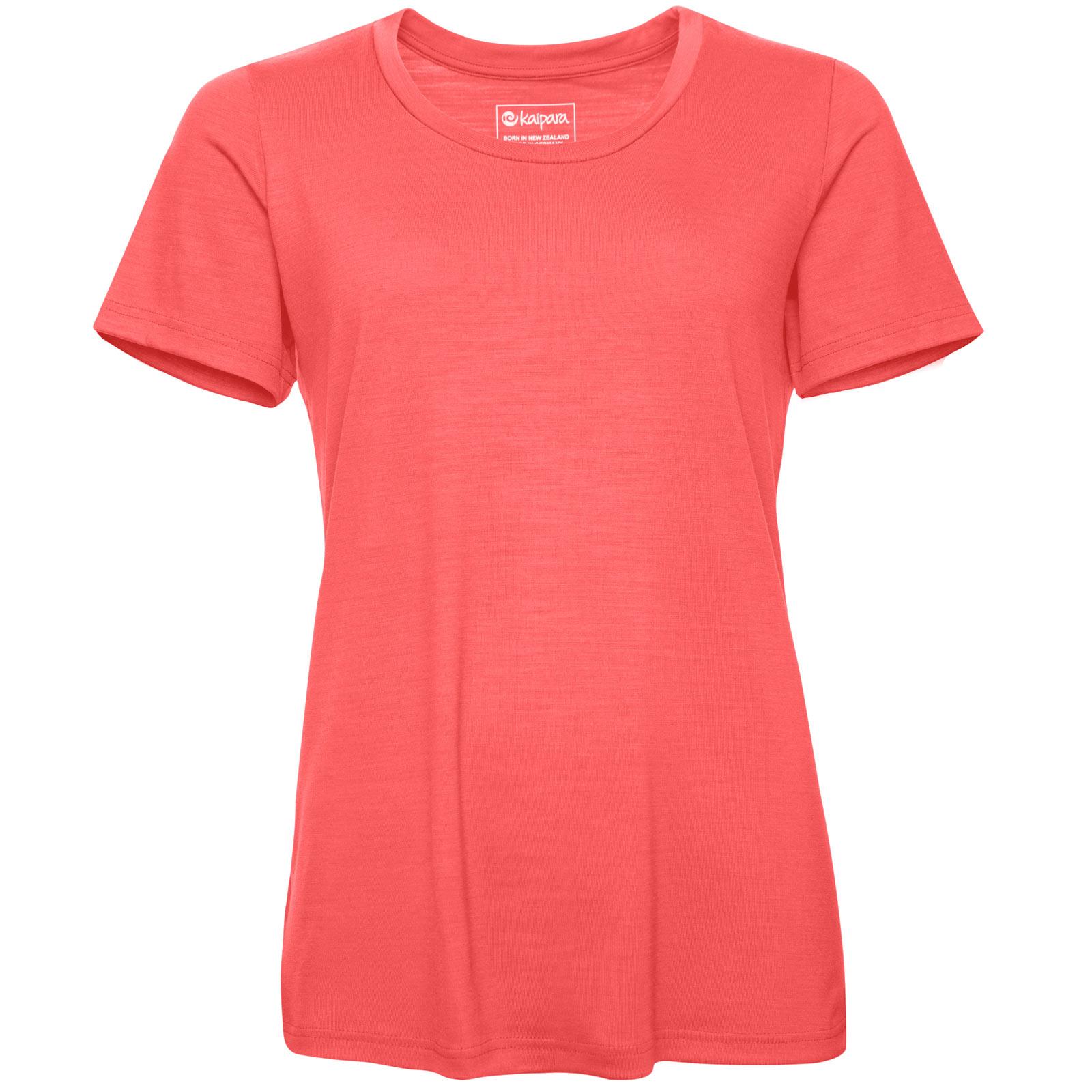 URBAN Merino Shirt Damen Kurzarm Regular 200 Coral L
