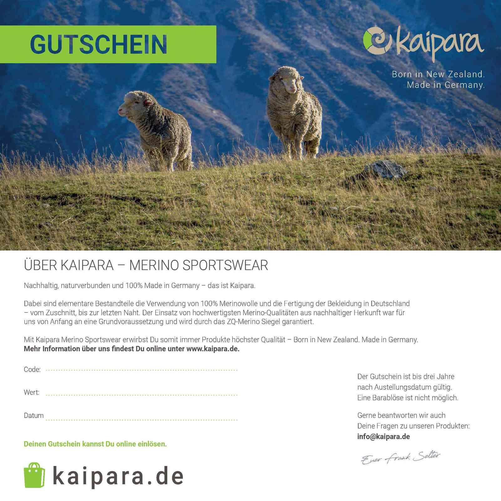Kaipara Gutschein 200 Euro