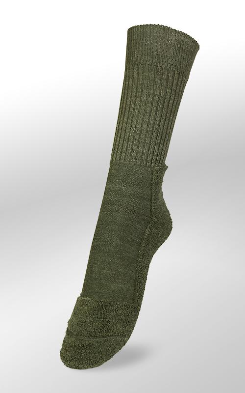 Veith Merino Outdoorsocken dünn Olive 46/47