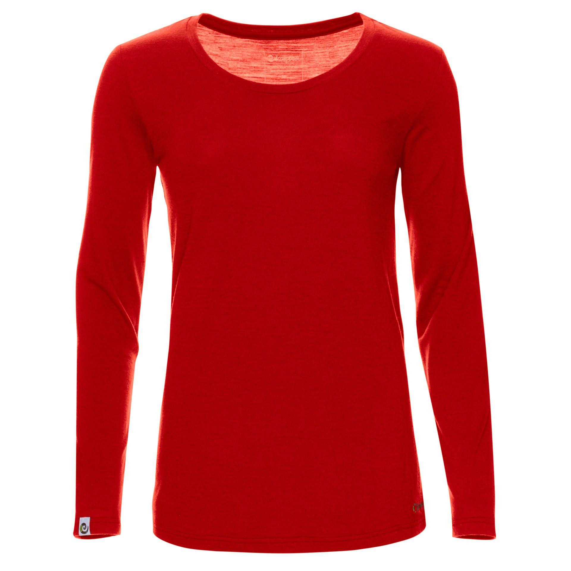 Merino Longsleeve Damen Regular 200 Cherry Red / XL