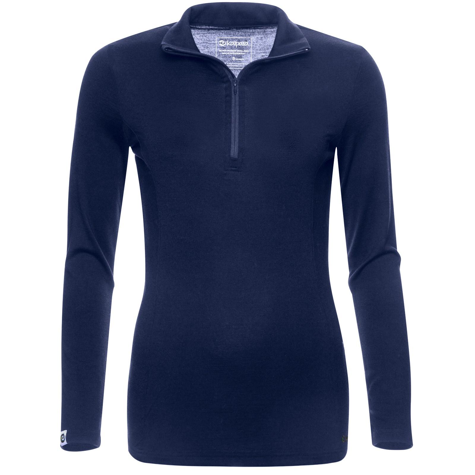 Merino Zip-Neck Damen Slimfit 200 Blau / XL