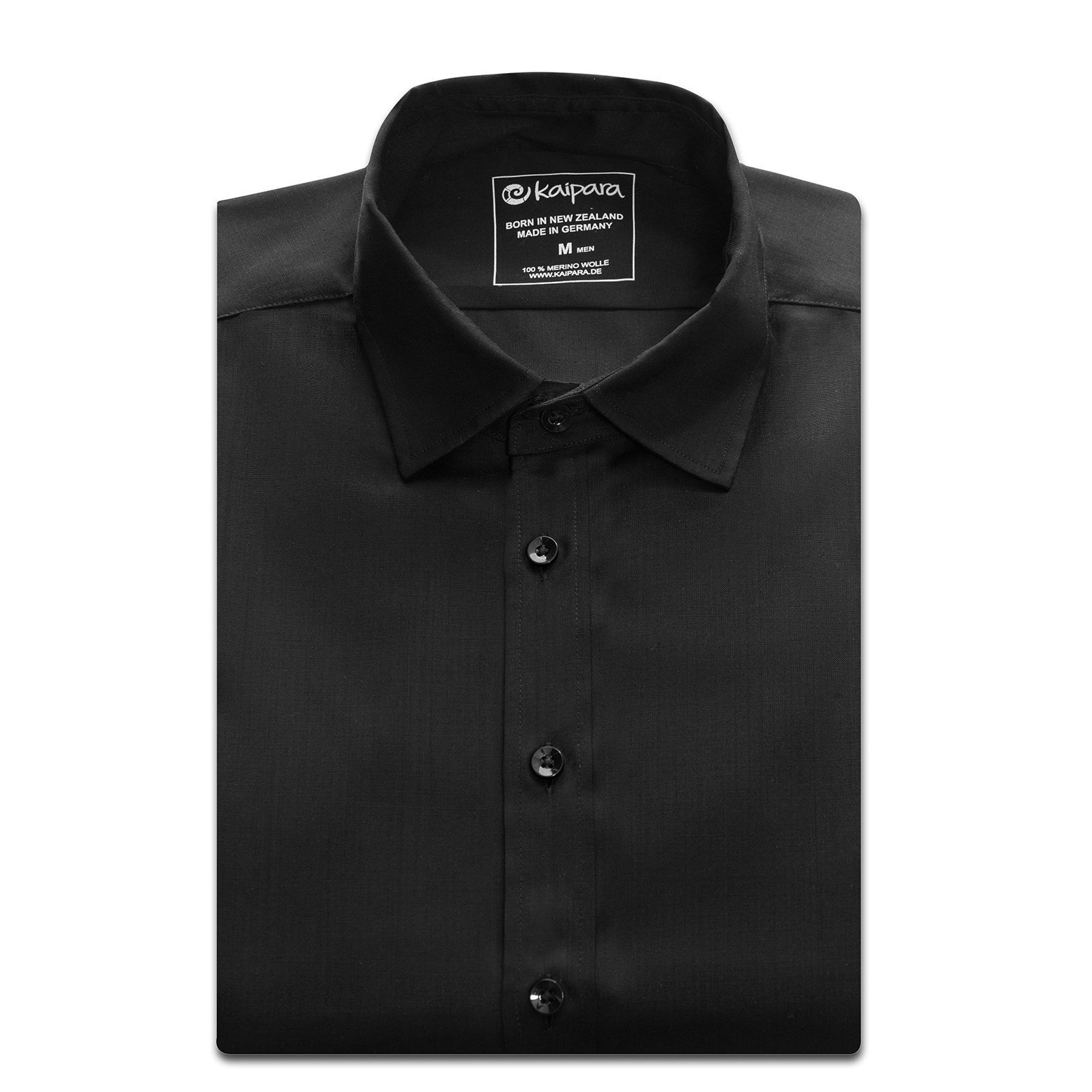 URBAN LIMITED Merino Hemd Regularfit 135 Black XXL